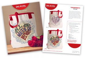 Product Launch Template for New Valentine's Day Tote Bag that changes color in the sun.
