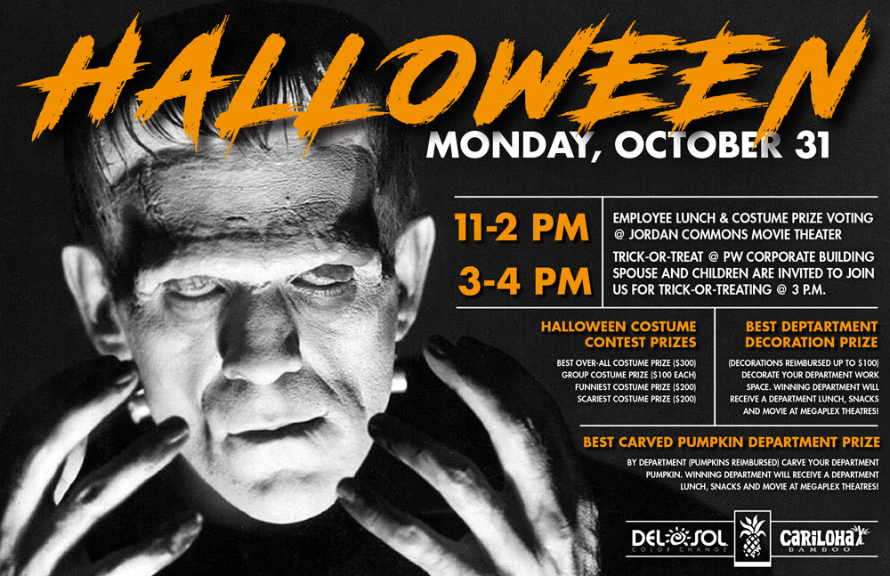 Poster Design for PW Companies Halloween Party.