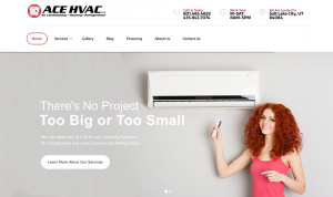 Built new CMS website for Ace HVAC LLC. Included social media integration, beta testing booking software, creating a new vector version of their logo.