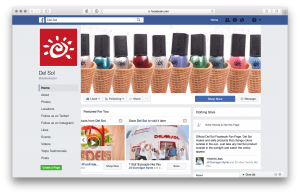 Created new cover photo for Corporate Facebook page to show off our Winter Nail Polish Collection.