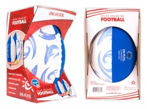 Created new football packaging to match the look & feel of our other products, while providing something sporty to appeal to kids and parents.