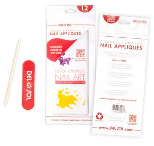 Designed the window area of the packaging to advertise Del Sol's Nail Art YouTube channel.