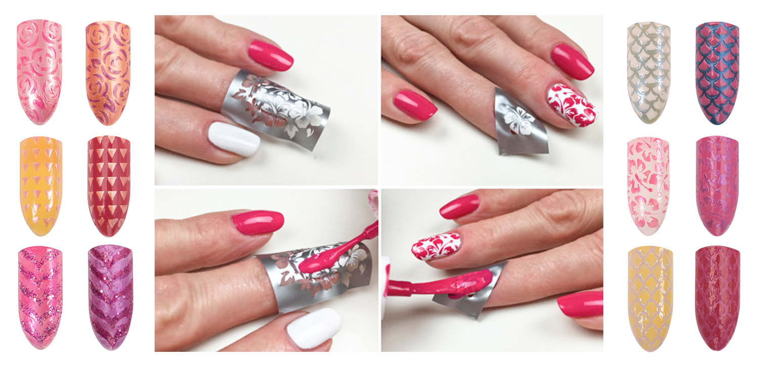 Designed marketing materials to show how to use the stencils with Del Sol color-changing Nail Polish.
