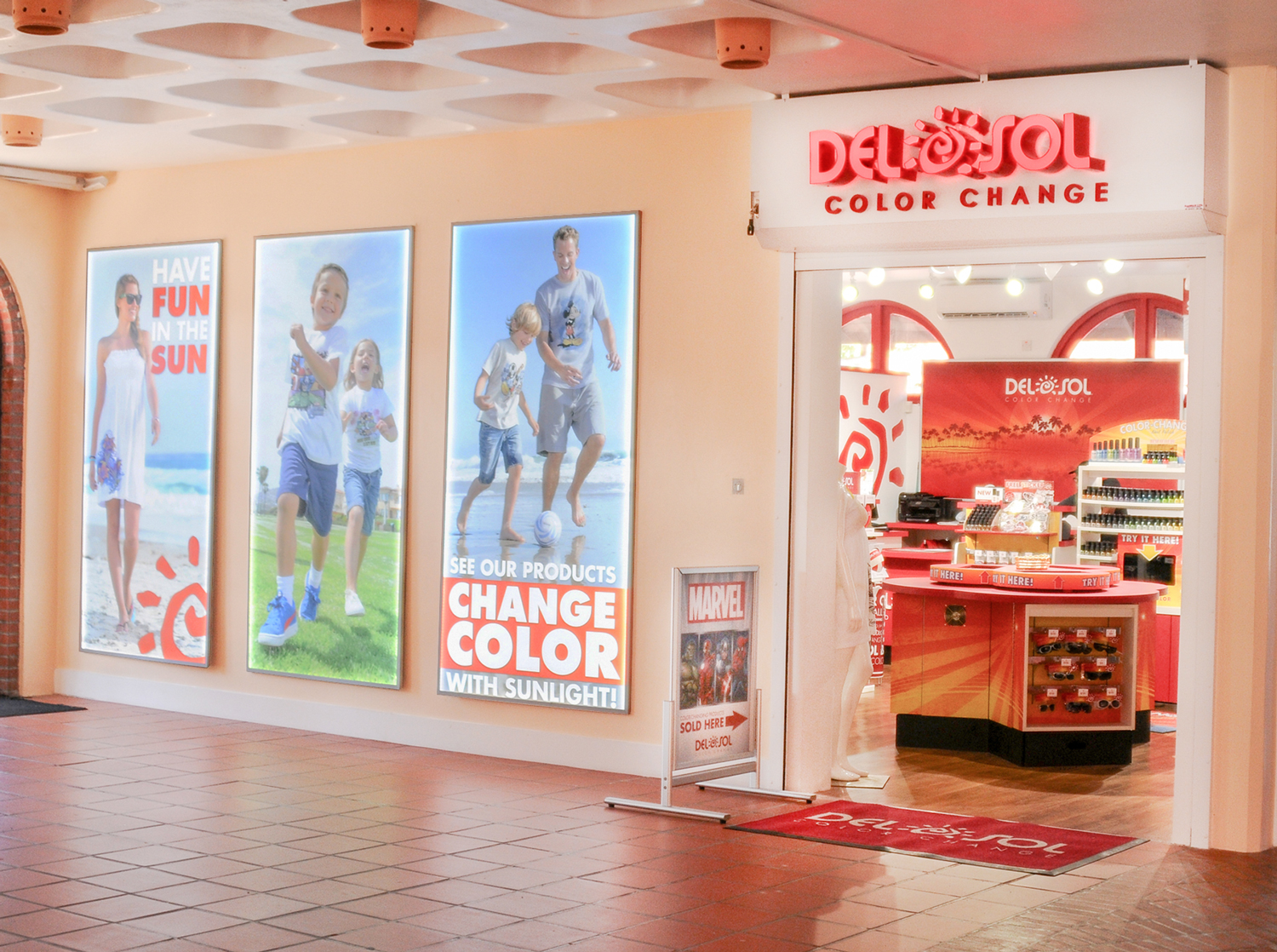 Designed new exterior graphics to show off latest products and lure shoppers into the store.