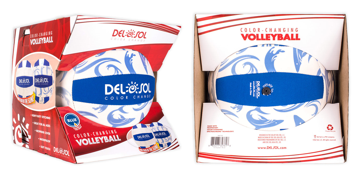 Created new volleyball packaging to match the look & feel of our other products, while providing something sporty to appeal to kids and parents.